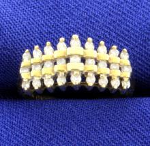 1/4 ct Diamond Band in 10K Yellow Gold
