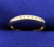 Diamond Channel Set Yellow Gold Ring