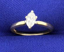 1/3 Carat Marquise Solitaire Ring