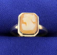 Vintage Bezel Set Cameo Ring