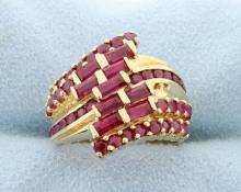 Ruby & Yellow Gold Ring