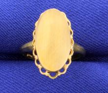 Vintage Initial Ring