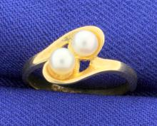 Double Pearl Vintage Ring