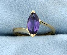 Amethyst Marquise Gemstone Ring