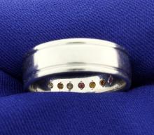 Men's Platinum Band Style Ring