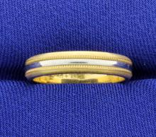 Two tone Band style Ring