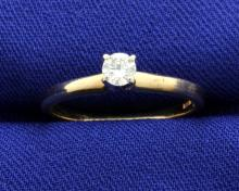 1/5 Carat Solitaire 14k Diamond Ring