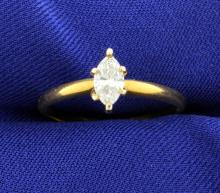 1/2 Carat Diamond Solitaire Ring