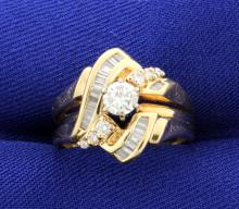 Diamond 14k Yellow Gold Ring with 1/2 Carat Total Weight!