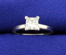 .84 Carat Princess Cut 14k Solitaire Ring