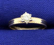 1/10 Carat Diamond 14k Ring