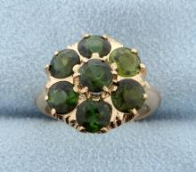 Vintage Rose Gold Tourmaline Ring