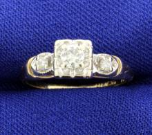 Diamond Vintage 14k Engagement Ring