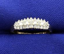1/4 Carat Total Weight Diamond 3 Row 10k Ring