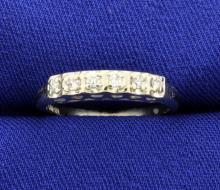 14k White gold Vintage Diamond Band