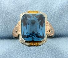 Zircon Vintage Multi Color 14k Gold Ring