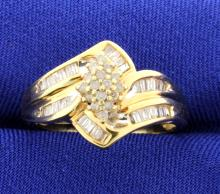 Diamond Ring in 10k Yellow Gold