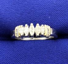 14k White & Yellow Diamond Ring
