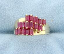 Ruby 10k Yellow Gold Fashion Ring!