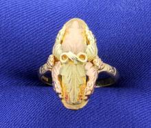 Vintage Black Hills Gold Multi Color Gold Ring