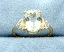 4 Carat Hiddenite & Diamond 10k Ring