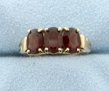 Garnet 3-Stone Ring