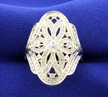Antique Style Diamond 14k Ring