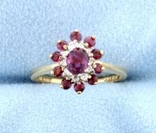 Ruby & Diamond 14k Ring