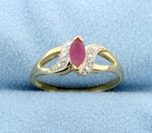Ruby 10k Yellow Gold Ring