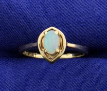 Opal 10k Solitaire Ring
