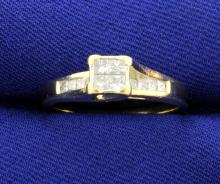 Diamond 14k Princess Cut Ring