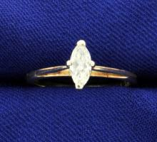 Diamond 0.42 carat 14k Solitaire Ring