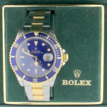 Men's Rolex 1990 Submariner Blue Dial & Bezel