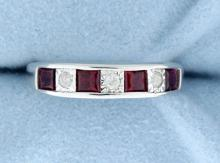 Ruby and Diamond Sterling Silver ring