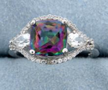 Mystic Topaz ring with sapphires
