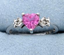 Diamond & Lab Pink Topaz