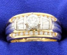 Diamond Tutone Ring
