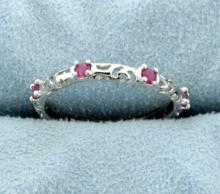 Genuine Ruby Ring set in Sterling Silver