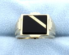 Onyx 14k Yellow Gold Ring