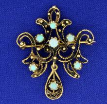 Antique Opal Pin