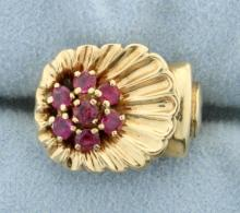 Natural Ruby Pinky ring
