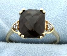 Smokey Topaz & Diamond Ring