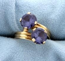 4ct Total Weight Blue Spinel Ring