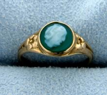 Vintage Cameo Pinky Ring