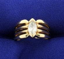 1/2ct Marquise Diamond Ring