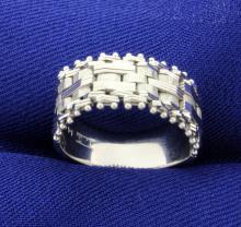 Flexible Link Ring 14K White Gold