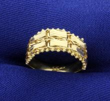 Flexible, Woven Ring in 14K Yellow Gold