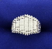 Woven 14K White Gold Ring