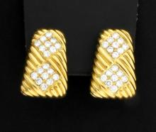 18K 3ct TW Diamond Earrings