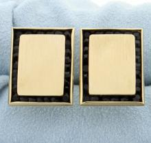 14K Gold & Onyx Cufflinks